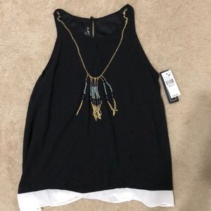 Dress shirt with necklace